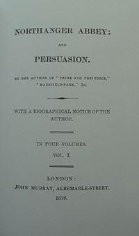 Northangerand persuasion